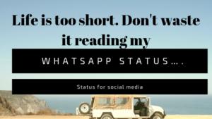 30 Unique status for social media and whatsapp, whatsapp status 2019, status for social media