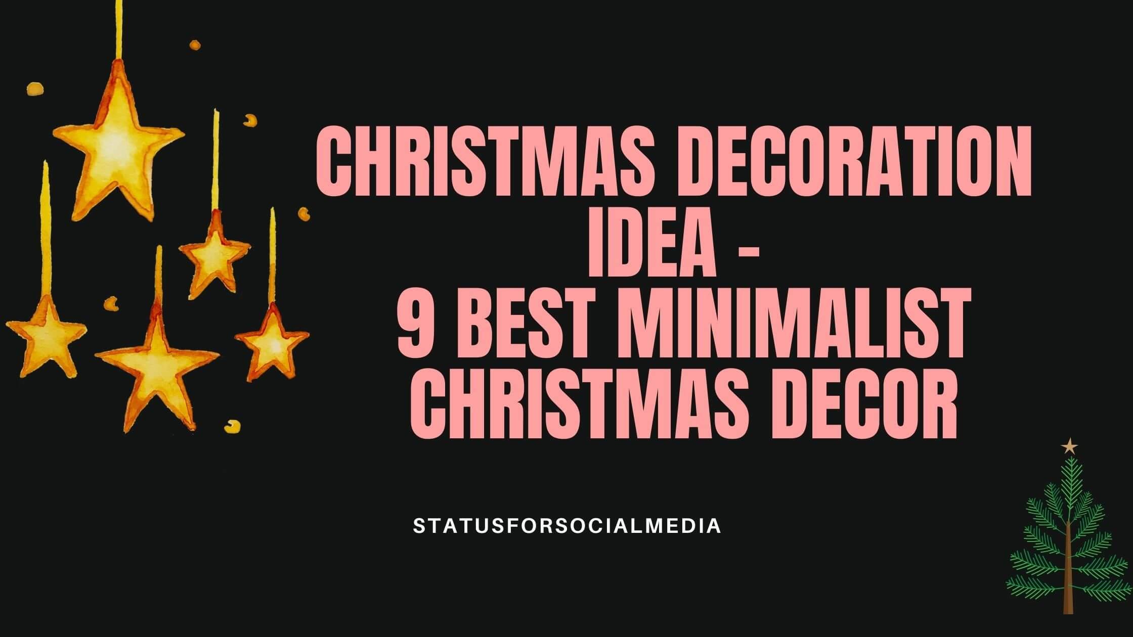 Christmas Decoration Idea STATUSFORSOCIALMEDIA