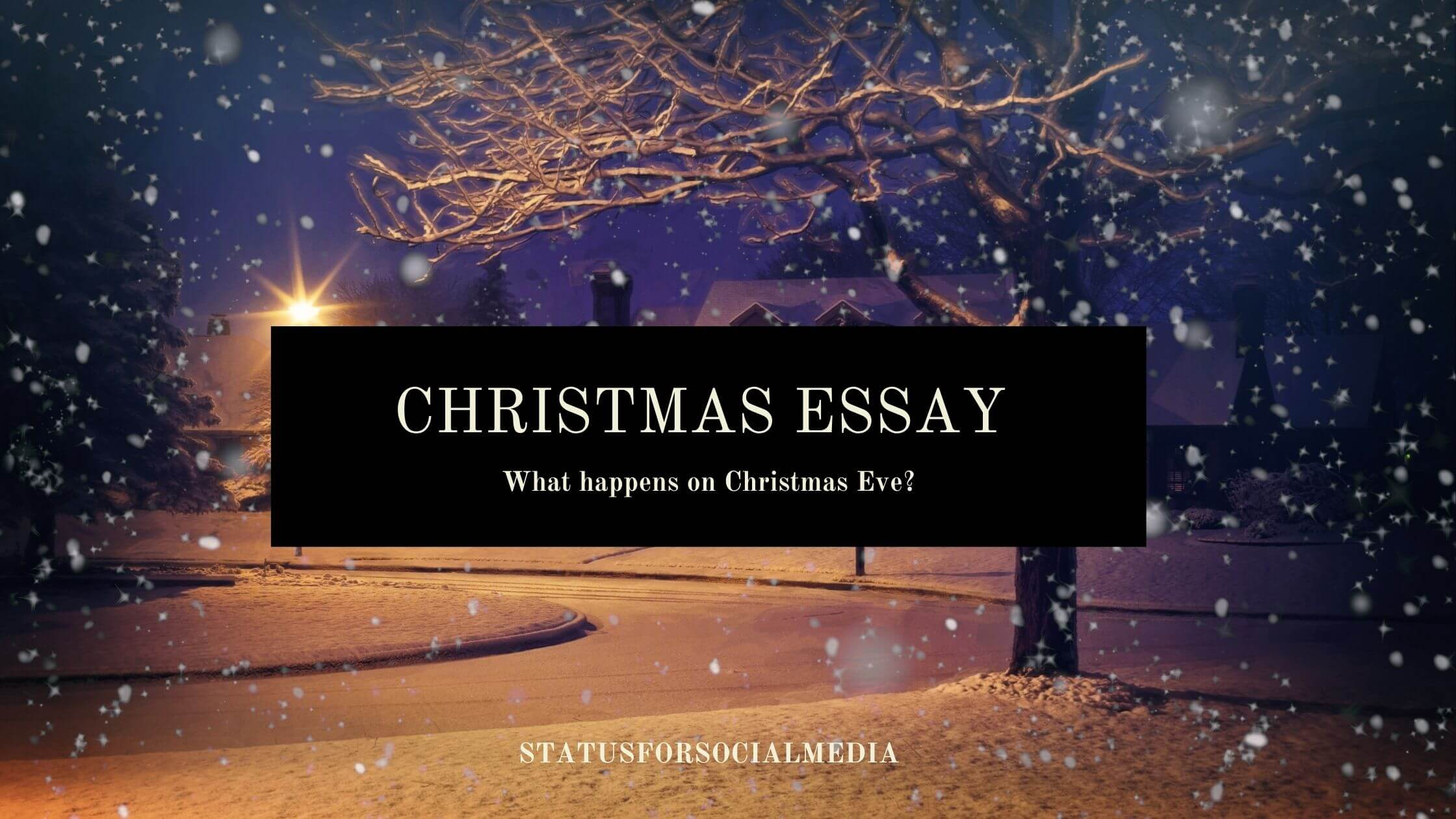 Christmas Essay statusforsocialmedia