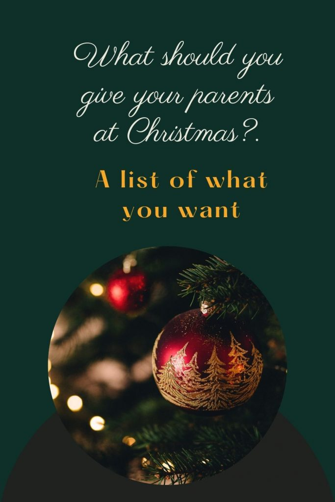 What should you give your parents at Christmas sfsm