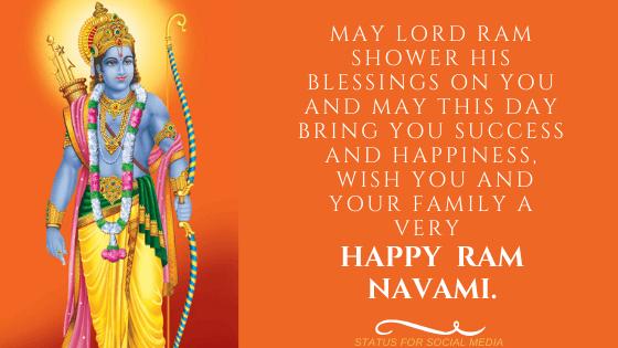 Happy ShriRam Navami Wishes in English
