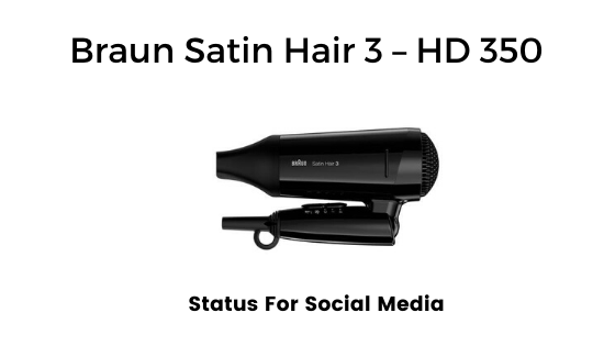 Braun Satin Hair 3 – HD 350 - best travel friendly lightweight hair dryer for fine hair in  India