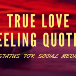 True Love Feeling Quotes, Status for social media, SFSM