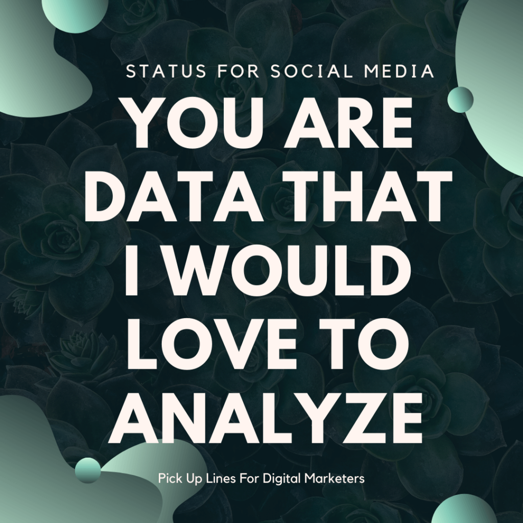 Pick Up Lines For Digital Marketers in uk, Status for social media, SFSM
