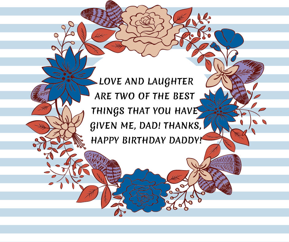 father birthday messages