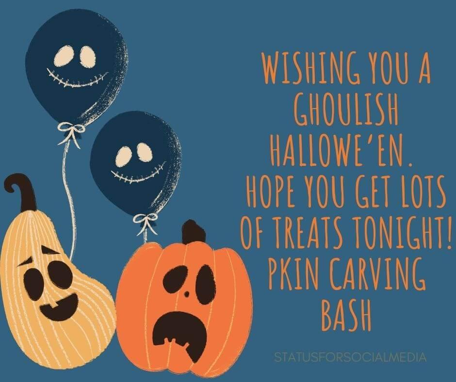 Wishing you a ghoulish Hallowe'en. Hope you get lots of treats tonight SFSM
