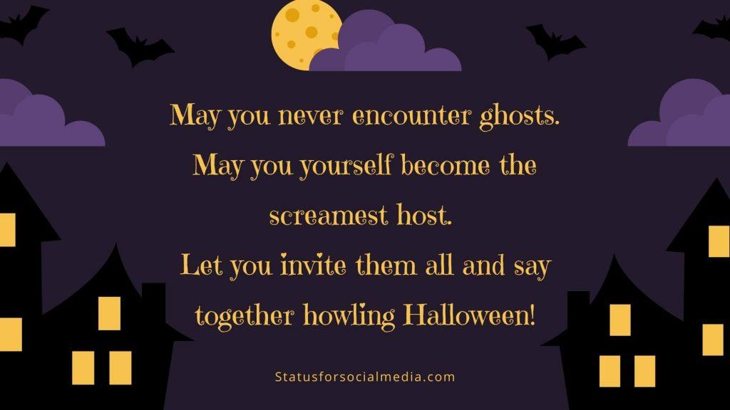 Howling Halloween STATUSFORSOCIALMEDIA