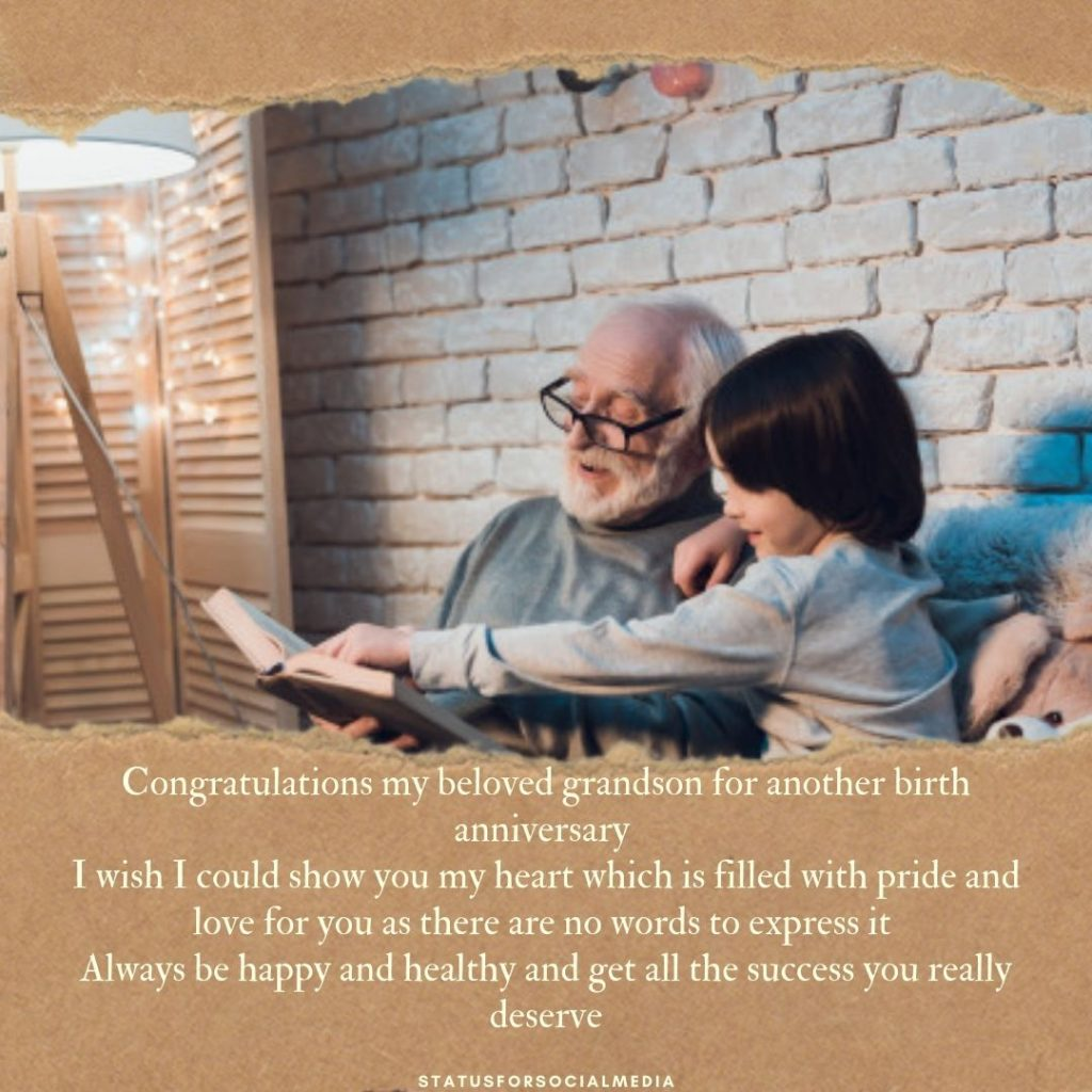 Birthday Wishes For Grandson Card