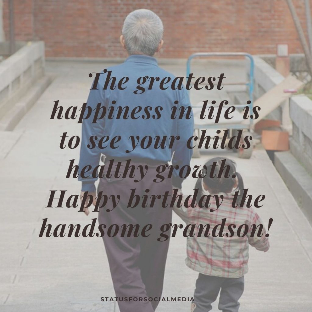 Birthday Wishes To Grandson from Grandfather