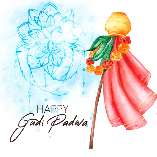 Gudi padwa greeting image
