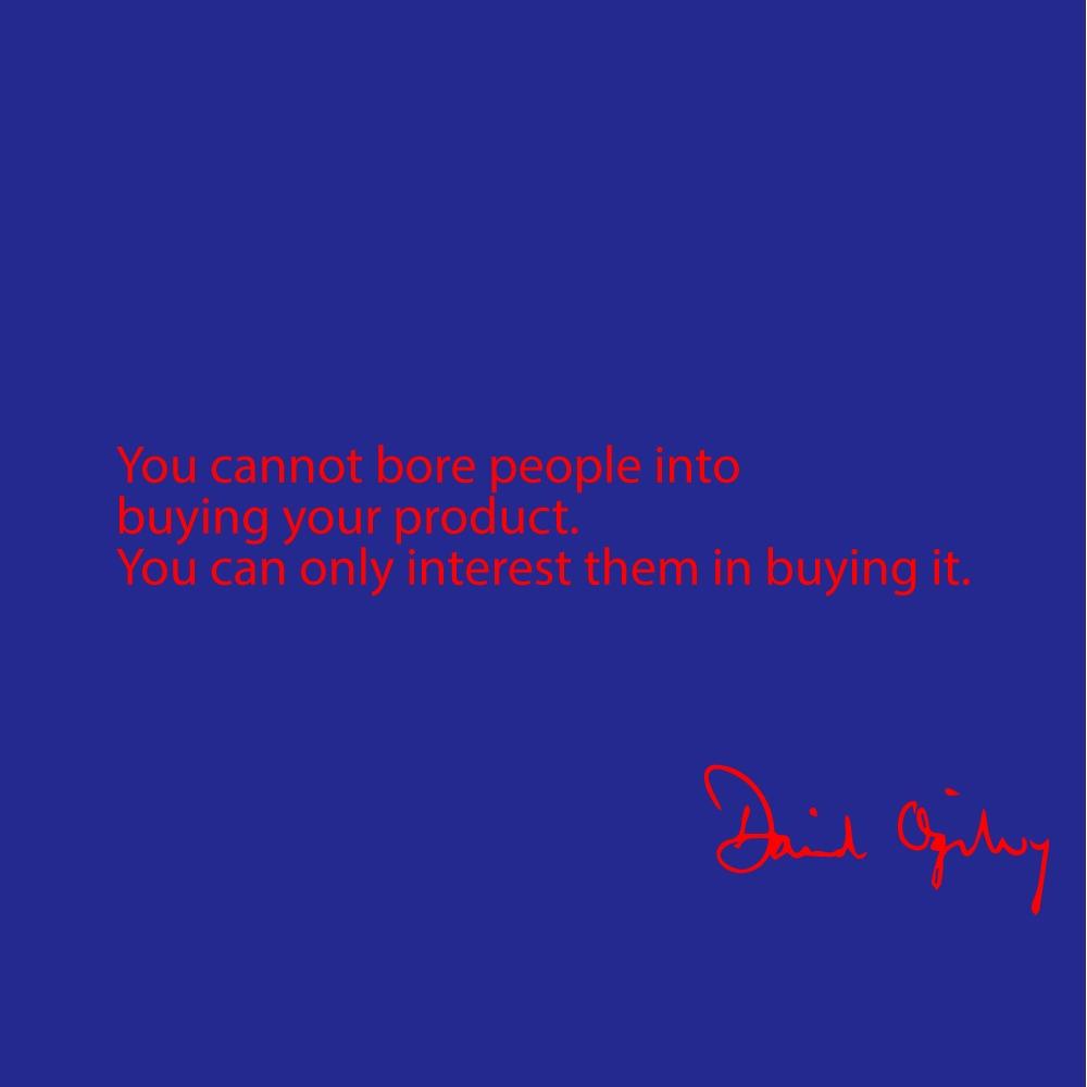 david ogilvy quotes on advertising