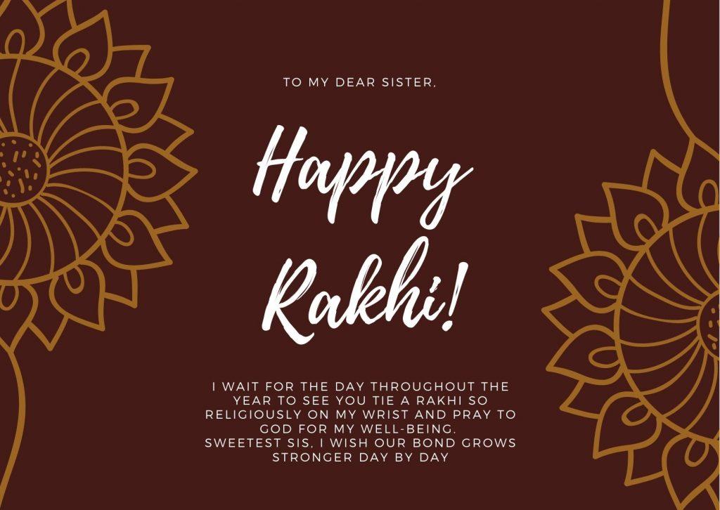 Happy Raksha Bandhan Messages for Sister